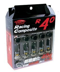 Project Kics R40 Lug Nuts w/ Wheel Locks: Black - 12x1.50