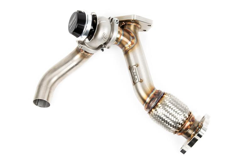 GrimmSpeed External Wastegate Up Pipe w/ Dump Tube 3-Bolt Inlet, 44/45mm V-Band: Subaru WRX / STi / LGT / FXT
