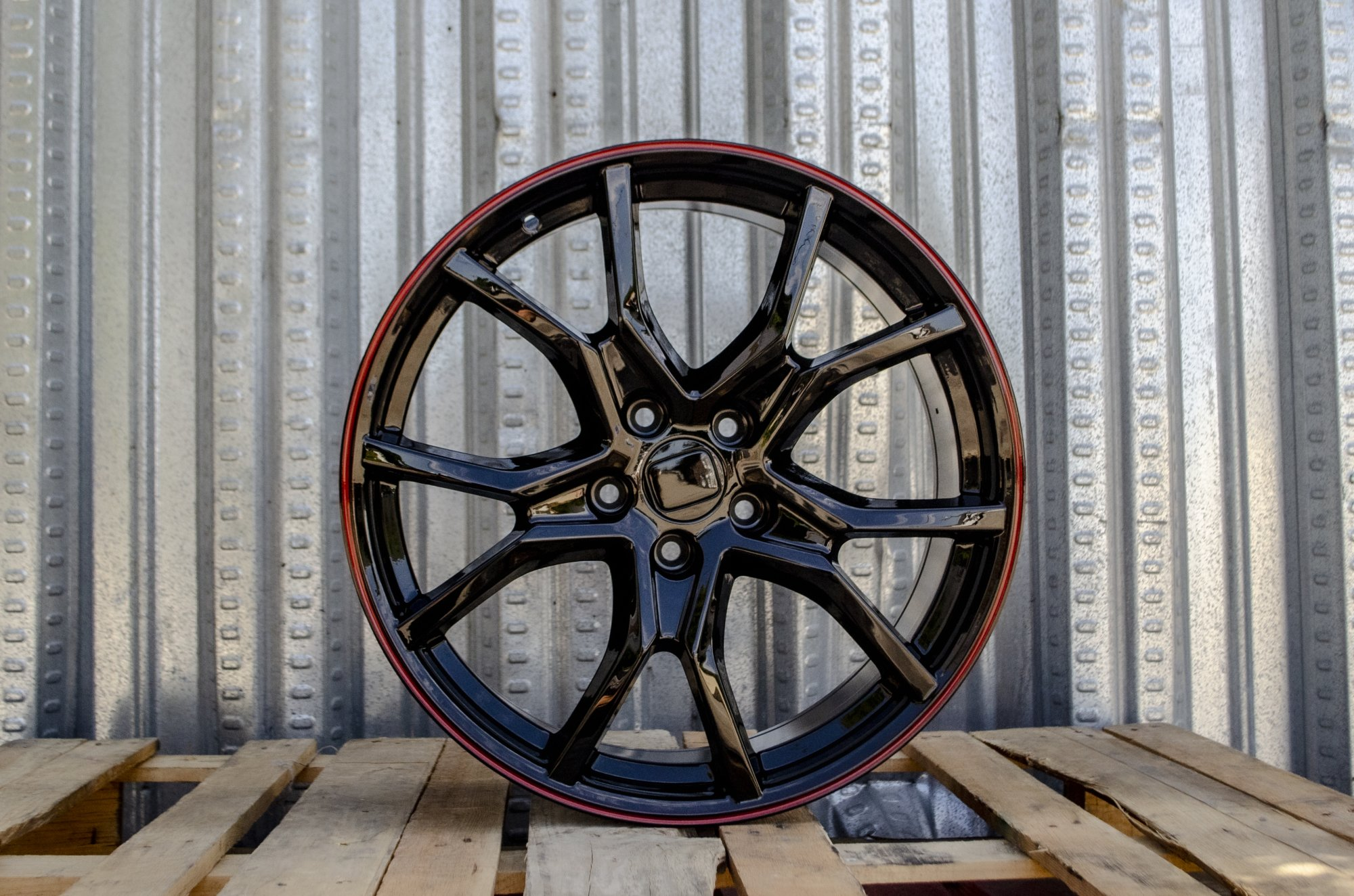 Alphasone Replica Wheels - Honda HT1: Gloss Black / Red Tip