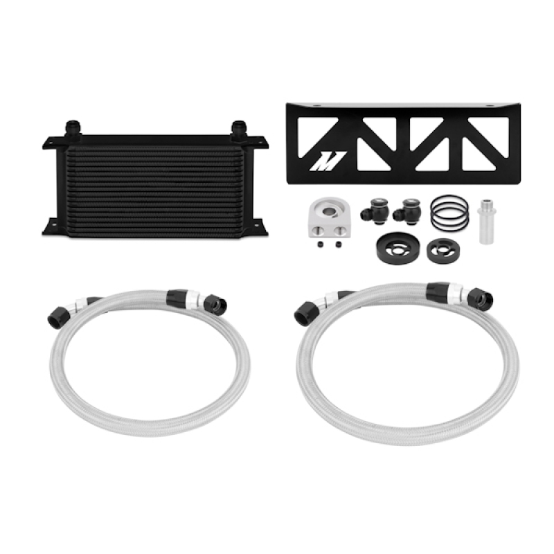 Mishimoto Oil Cooler Kit - Black: 13+ Subaru BRZ / 13+ Scion FR-S