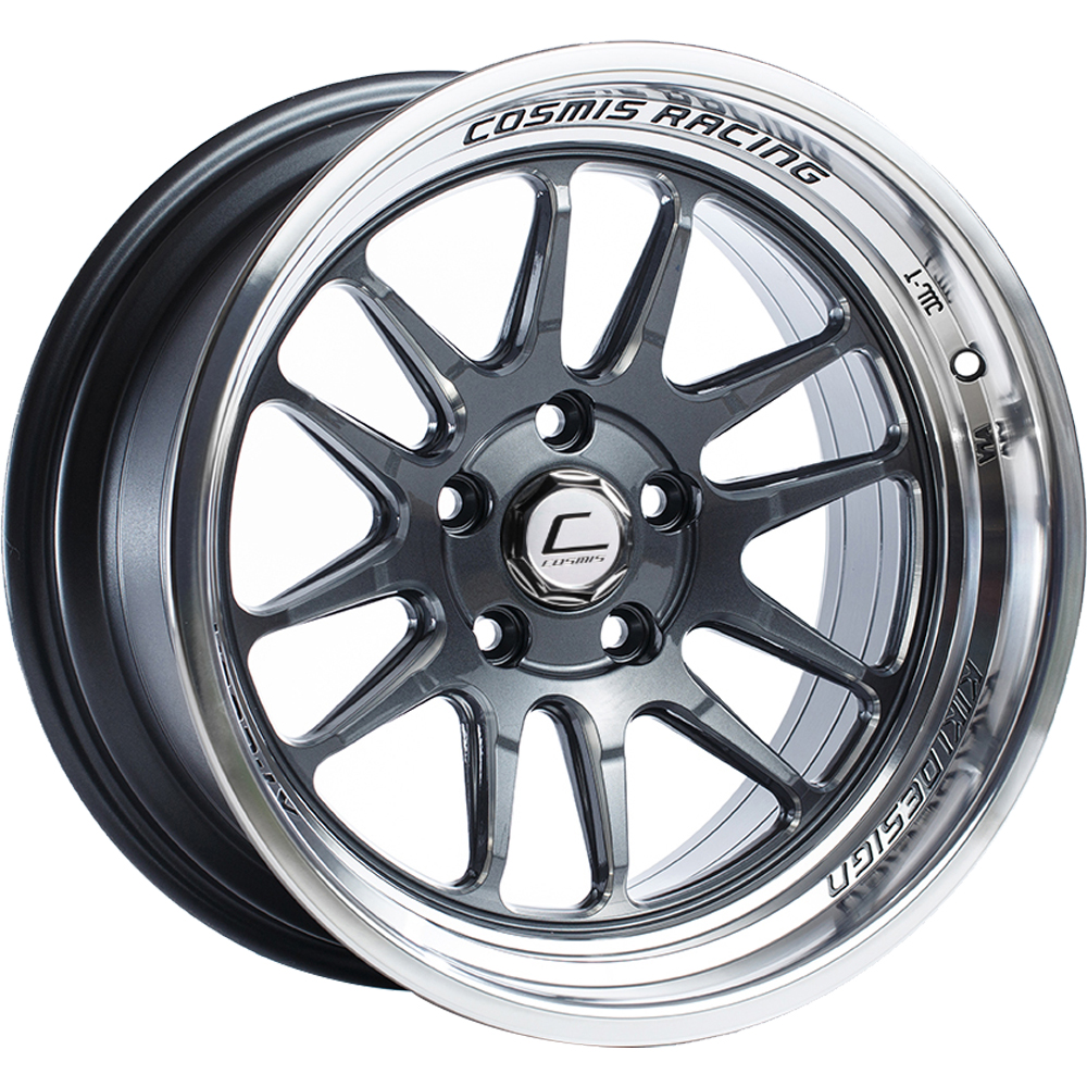 Cosmis Racing XT-206R - Gunmetal w/ Machined Lip: 18x9.5 +10 5x114.3